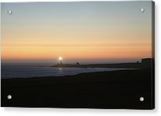 Dusk Settles On The Pigeon Point Light Station Near Ano Nuevo Acrylic Print by Scott Lenhart
