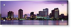 Dusk Skyline, New Orleans, Louisiana Acrylic Print by Panoramic Images
