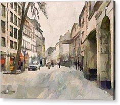 Dusseldorf Old Town Street 1 Acrylic Print by Yury Malkov