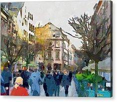 Dusseldorf Old Town Street 4 Acrylic Print by Yury Malkov