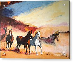 Acrylic Print featuring the painting Dust In The Wind by Judy Kay