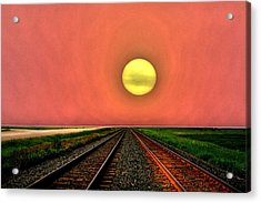 Dustbowl Sunset Acrylic Print by Larry Trupp