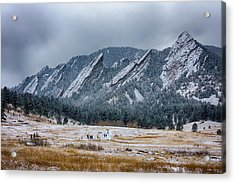 Dusted Flatirons Chautauqua Park Boulder Colorado Acrylic Print by James BO  Insogna