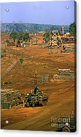 Duster Of 4/60th Artillery At  Lz Oasis Vietnam 1969 Acrylic Print by California Views Mr Pat Hathaway Archives