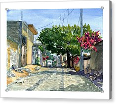 Dusty Backstreet In Ajijic Acrylic Print