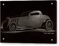 Dusty Ford Coupe Acrylic Print by Paul Kim