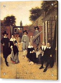 Dutch Family Acrylic Print by Pieter de Hooch