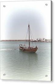 Dutch Vessel Acrylic Print by Elaine Teague