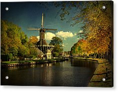 Acrylic Print featuring the photograph Dutch Windmill by Annie Snel