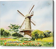 Dutch Windmill In San Francisco  Acrylic Print