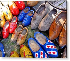 Acrylic Print featuring the photograph Dutch Wooden Shoes by Gerry Bates