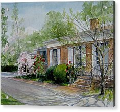 Acrylic Print featuring the painting Duvall Home Portrait by Gloria Turner