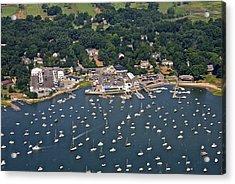 Duxbury Harbor And Downtown Duxbury Acrylic Print