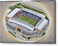 Dw Stadium - Wigan Athletic Acrylic Print by D J Rogers