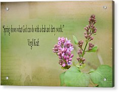 Dwarf Lilac With Verse Acrylic Print