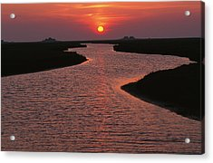 Dwelling Mounds In The Wadden Sea Acrylic Print