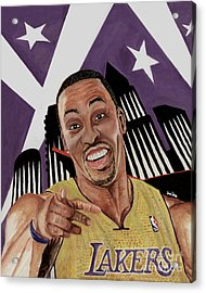 Dwight Howard Welcome To The  Lake Show Acrylic Print by Israel Torres