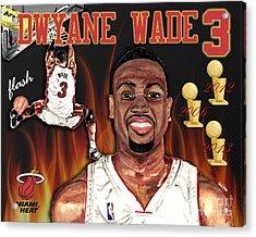 Dwyane Wade Acrylic Print