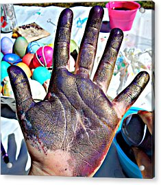 Dyed Hand Acrylic Print by Heidi Manly