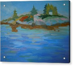 Acrylic Print featuring the painting Dyer Bay Island by Francine Frank