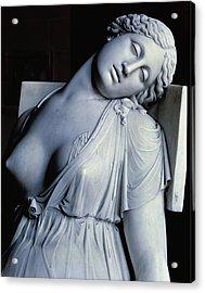 Dying Lucretia  Acrylic Print by Damian Buenaventura Campeny y Estrany