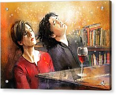 Dylan Moran And Tamsin Greig In Black Books Acrylic Print