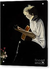 Acrylic Print featuring the painting Dylan by Stuart Engel
