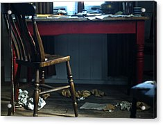 Dylan Thomas Writing Shed Acrylic Print by Steve Purnell