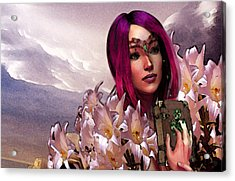 Dymphna Lily Of Fire Acrylic Print