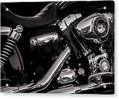 Acrylic Print featuring the photograph Dyna Super Glide Custom by Bob Orsillo