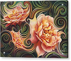 Dynamic Floral V  Roses Acrylic Print