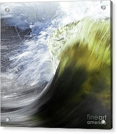 Dynamic River Wave Acrylic Print by Heiko Koehrer-Wagner