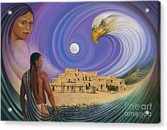 Dynamic Taos I Acrylic Print by Ricardo Chavez-Mendez