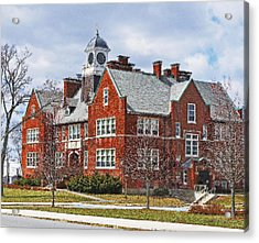 Acrylic Print featuring the photograph E B Newton School Winthrop Ma by Caroline Stella