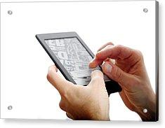 E-book Reader Acrylic Print