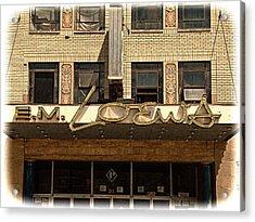 E M Loews Theater Acrylic Print by Mike McCool
