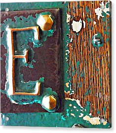 E Acrylic Print by Sarah Loft