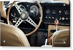 E Type Jag - Interior Acrylic Print