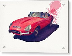 E Type Acrylic Print by Roger Lighterness