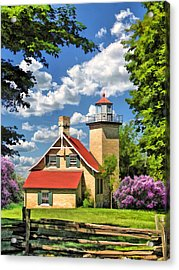 Eagle Bluff Lighthouse Acrylic Print by Christopher Arndt