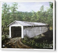 Eagle Creek Covered Bridge Brown County Ohio Acrylic Print by Rita Miller