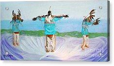 Eagle Dance Acrylic Print by Pauline Ross