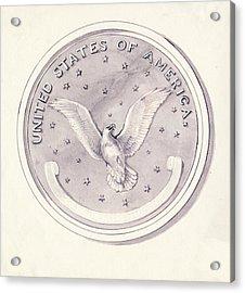 Eagle Design For Us Coin Acrylic Print