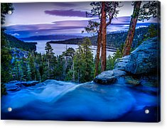 Eagle Falls At Dusk Over Emerald Bay  Acrylic Print