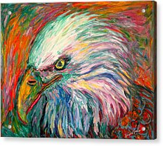 Eagle Fire Acrylic Print by Kendall Kessler