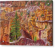 Eagle Flying In Bryce Canyon Acrylic Print by Ornon Shaw
