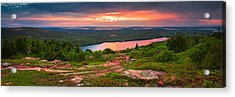 Eagle Lake Sunset  Acrylic Print by Emmanuel Panagiotakis