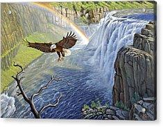 Eagle-mesa Falls Acrylic Print by Paul Krapf