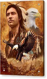 Eagle Montage Acrylic Print by Garry Walton