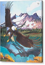 Eagle Oregon Lake Acrylic Print